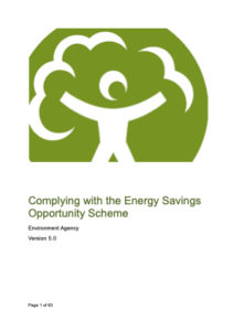 Comply with the Energy Savings Opportunity Scheme